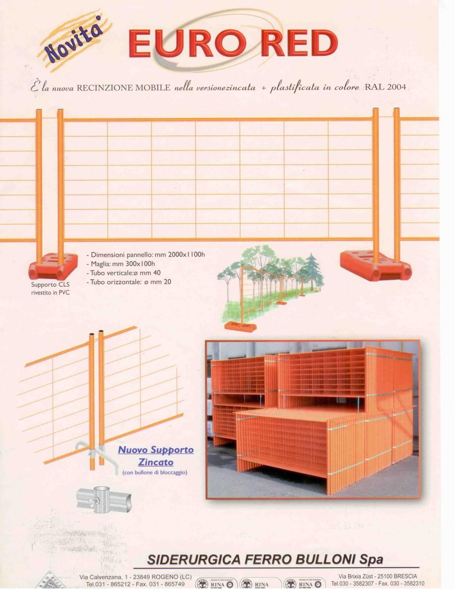 Pagina 1 - Garduri mobile EURO RED BULLONI Cornice Orange Fisa tehnica Engleza