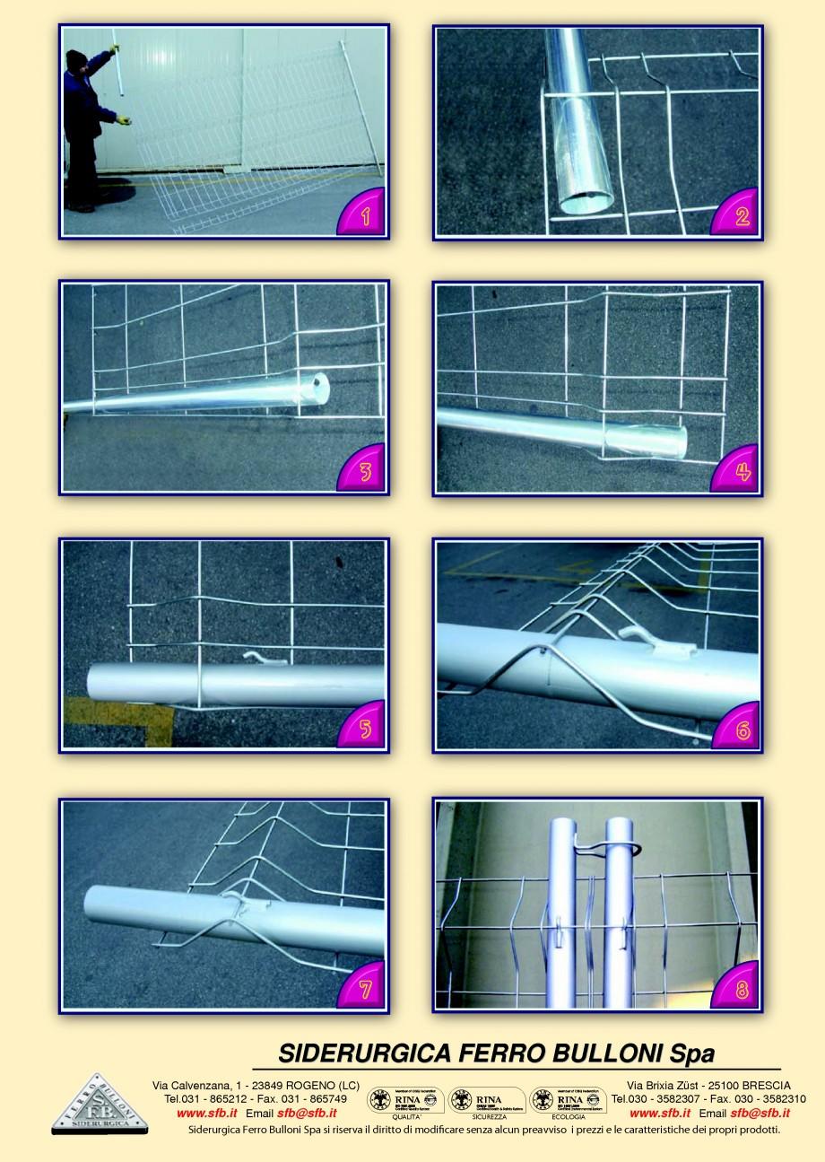 Pagina 2 - Garduri mobile EASY FIX BULLONI Cornice, Cornice Orange, Grecato, Standard Fisa tehnica...