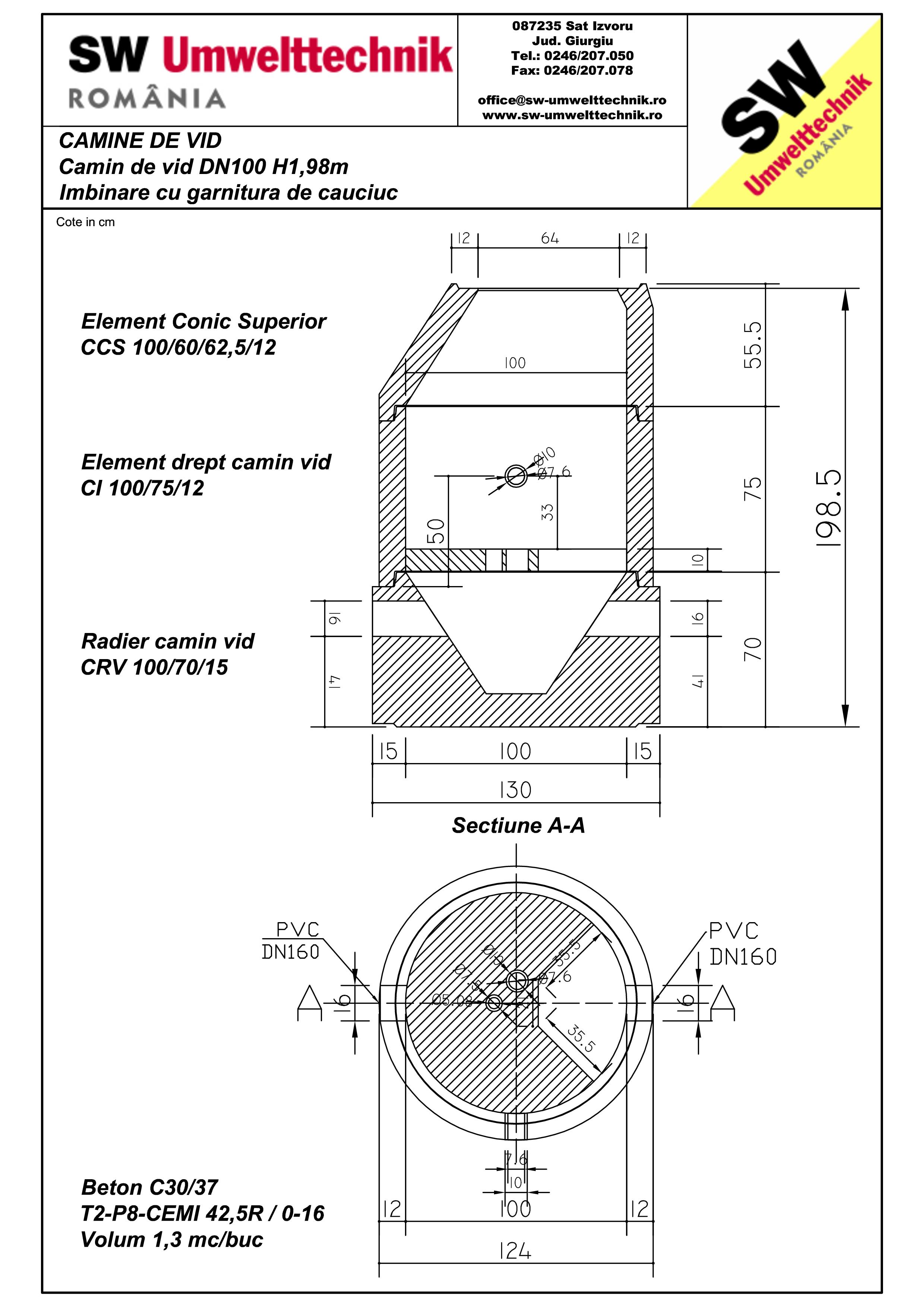 Pagina 1 - CAD-PDF Camin de vid DN1000 H1,98cm SW UMWELTTECHNIK Detaliu de produs