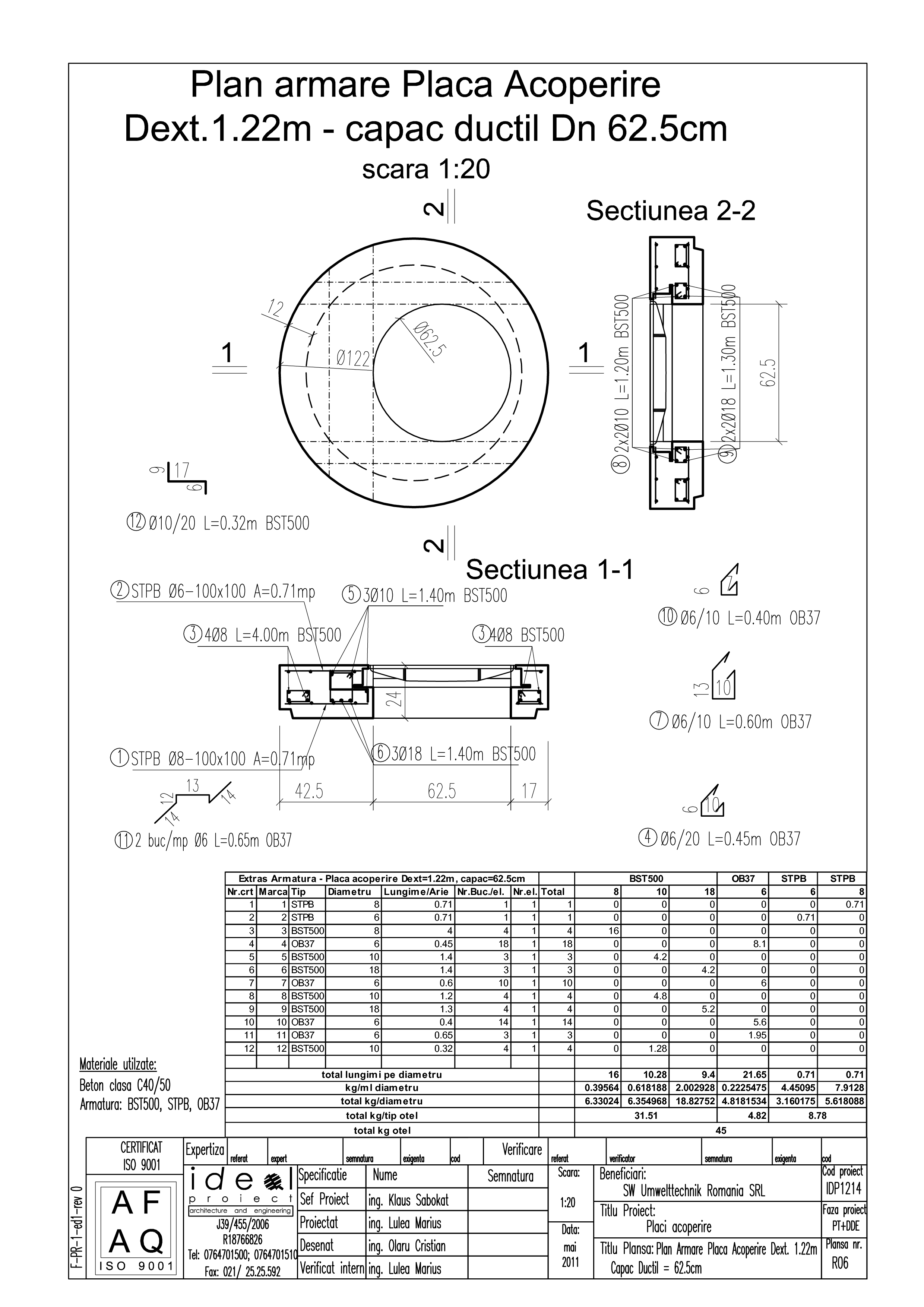 Pagina 1 - CAD-PDF Placa acoperire Dext1220 H200 cu CD DN625 SW UMWELTTECHNIK Detaliu de produs