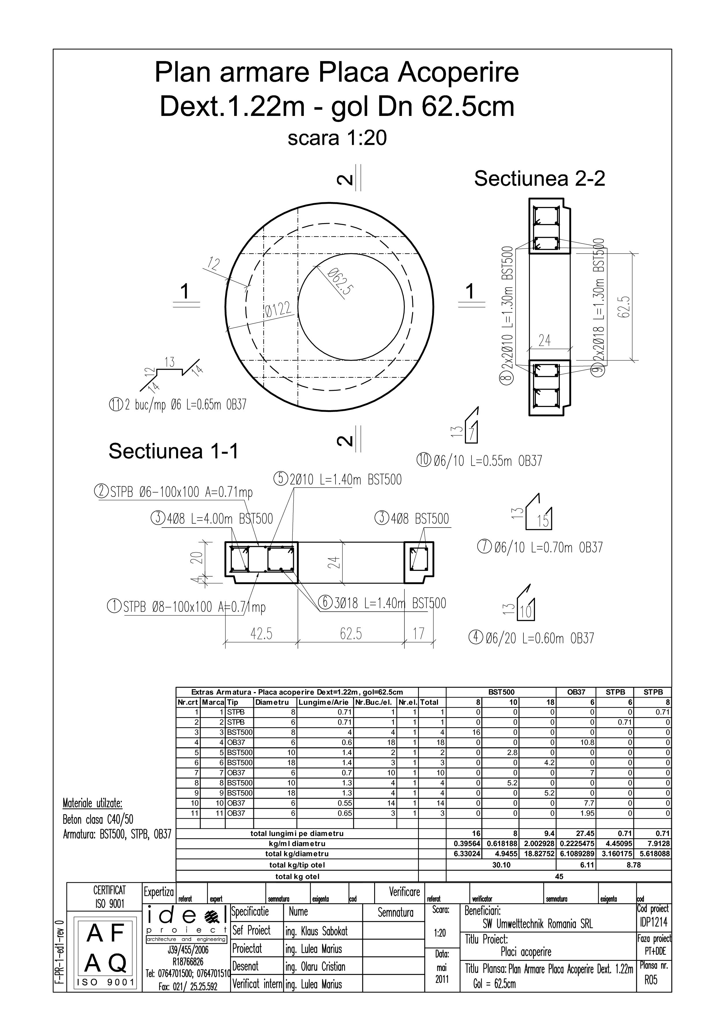 Pagina 1 - CAD-PDF Placa acoperire Dext1220 H200 cu GOL DN625 SW UMWELTTECHNIK Detaliu de produs