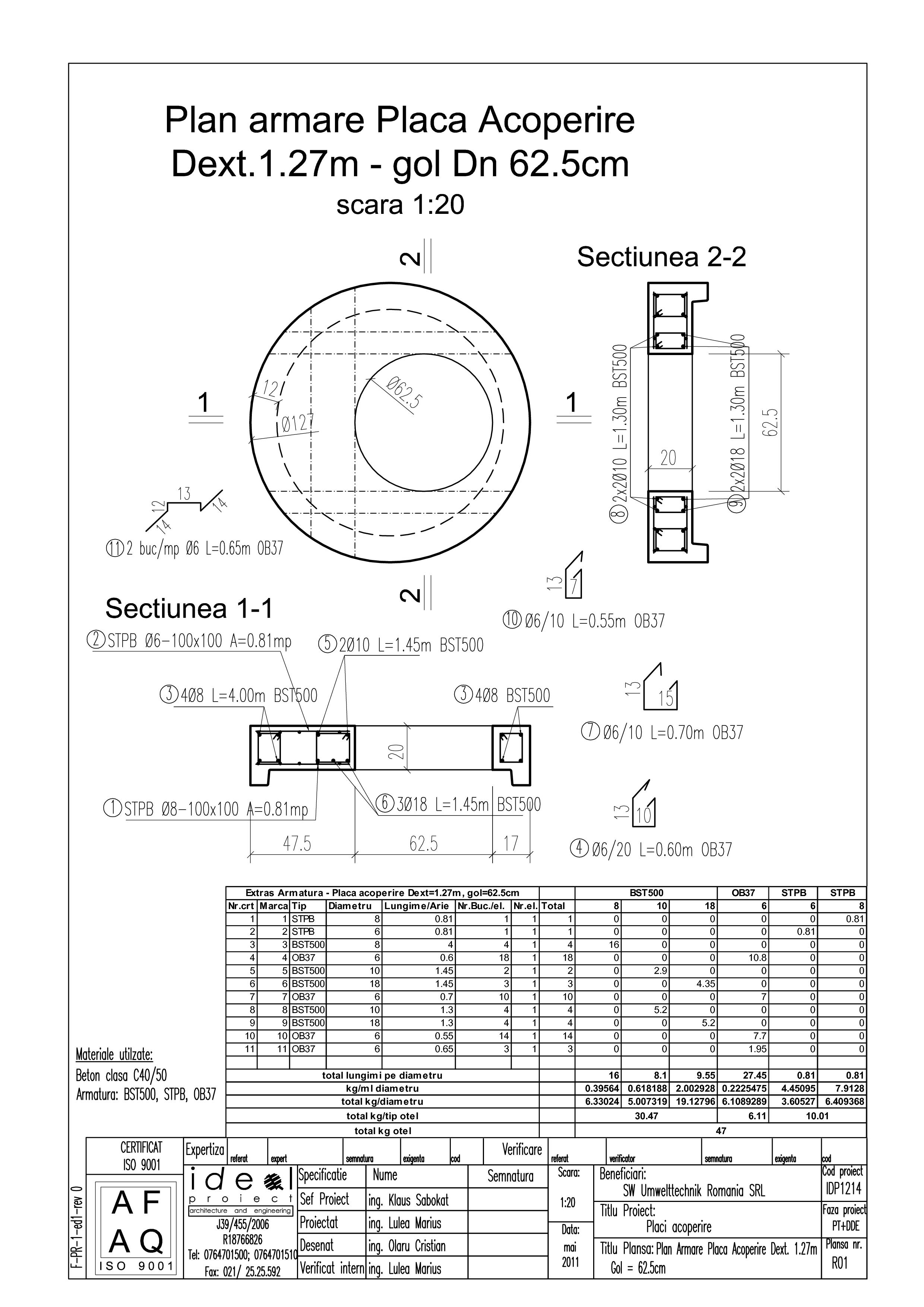 Pagina 1 - CAD-PDF Placa acoperire Dext1270 H200 cu GOL DN625 SW UMWELTTECHNIK Detaliu de produs