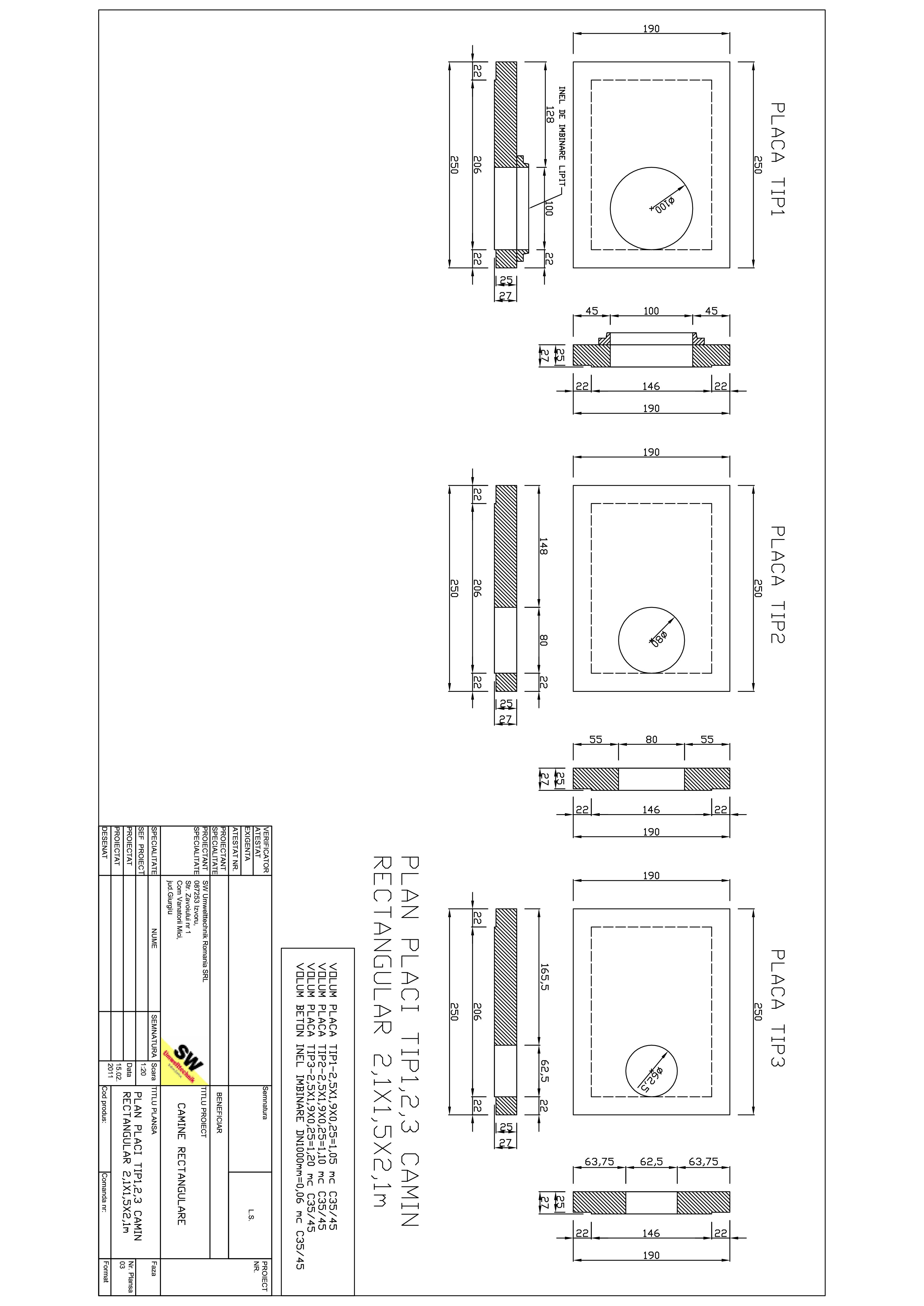 Pagina 1 - CAD-PDF Placa camin rectangular 2,1X1,5X2,1m SW UMWELTTECHNIK Detaliu de produs
