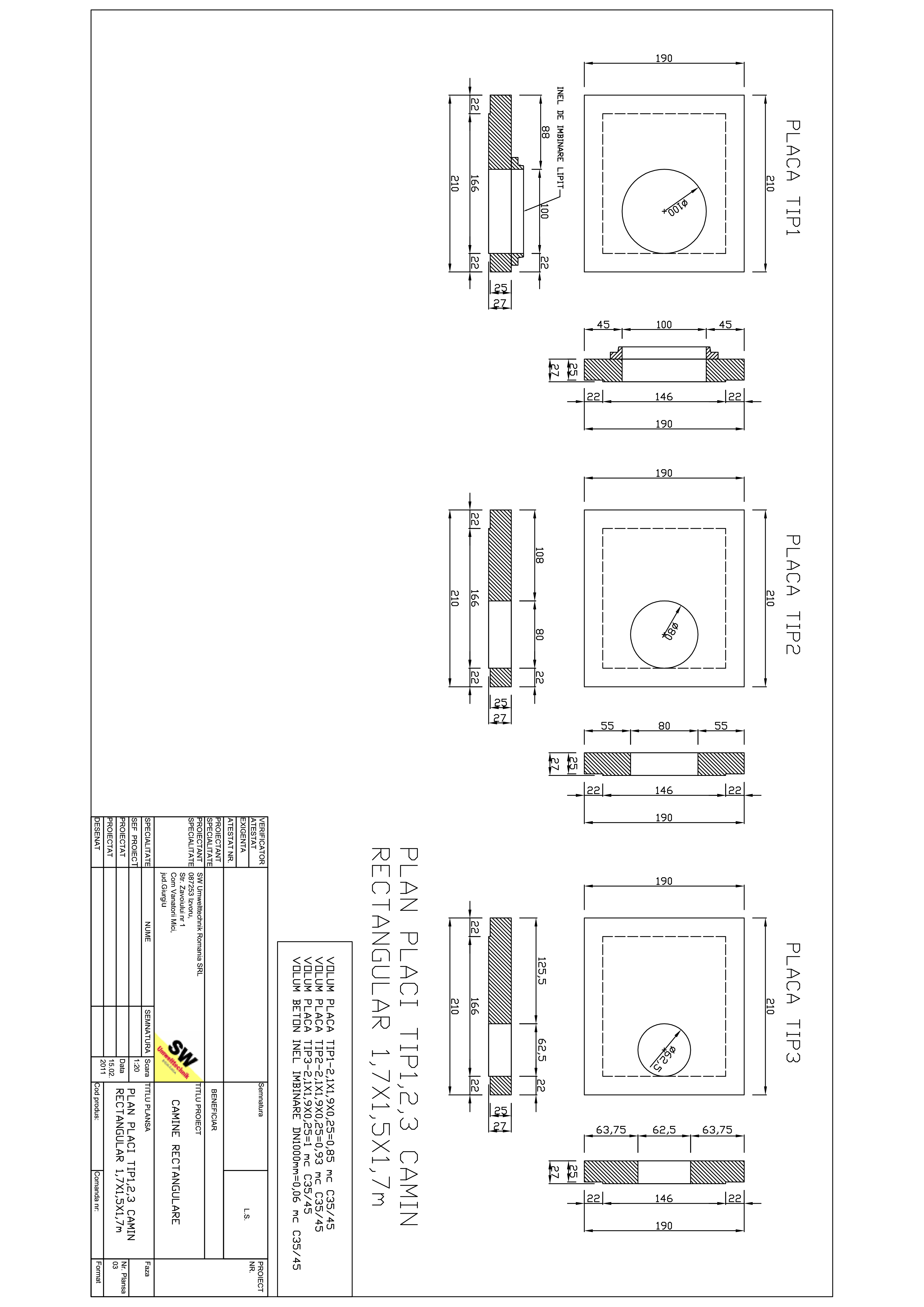 Pagina 1 - CAD-PDF Placa camin rectangular Dint.1,7x1,5x1,7m SW UMWELTTECHNIK Detaliu de produs