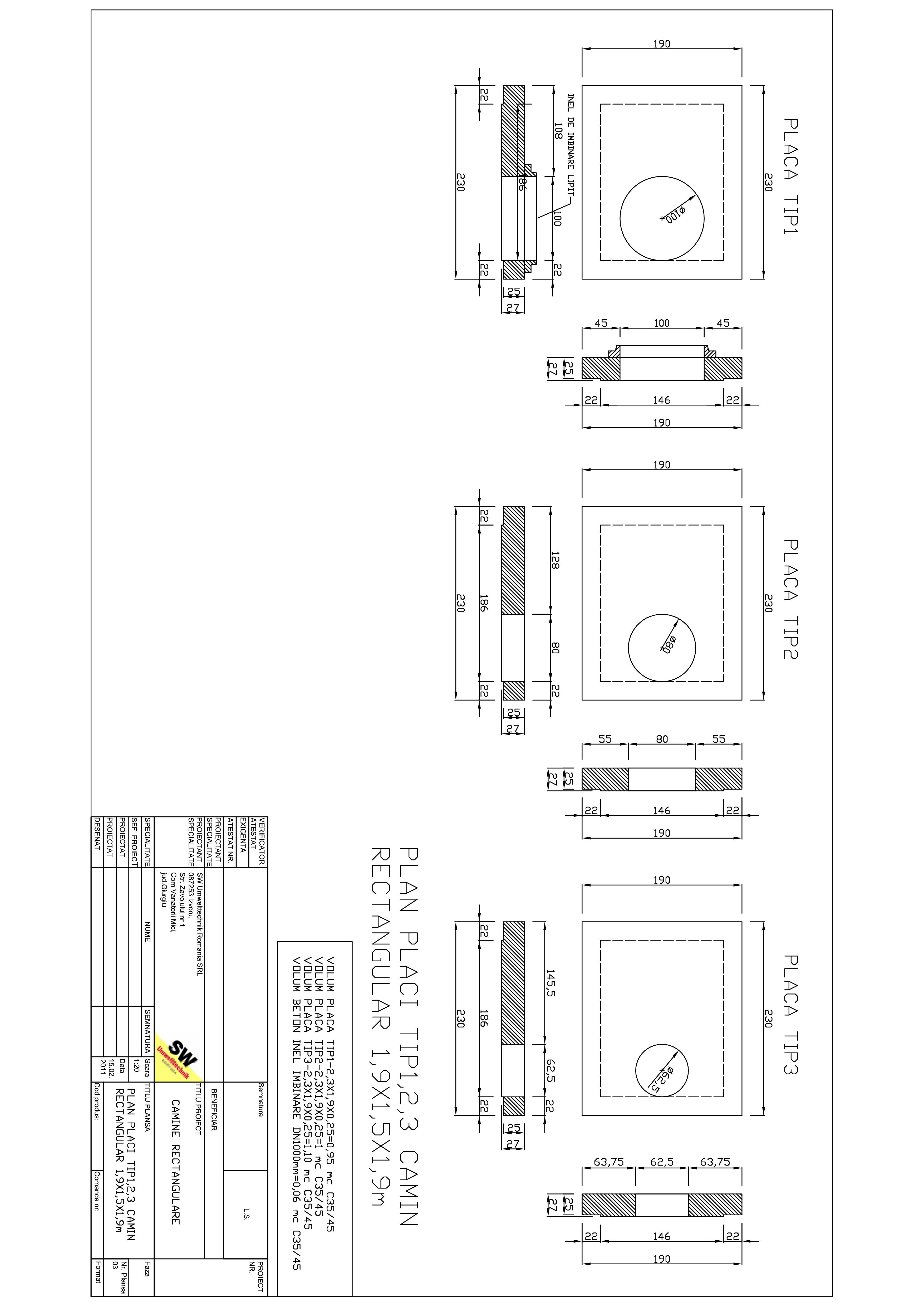 Pagina 1 - CAD-PDF Placa camin rectangular Dint.1,9x1,5x1,9m SW UMWELTTECHNIK Detaliu de produs