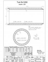 Tub DN1200mm L3m