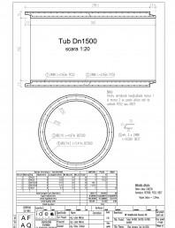 Tub DN1500mm L3m