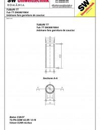 Tub cu talpa TT DN300.100.4