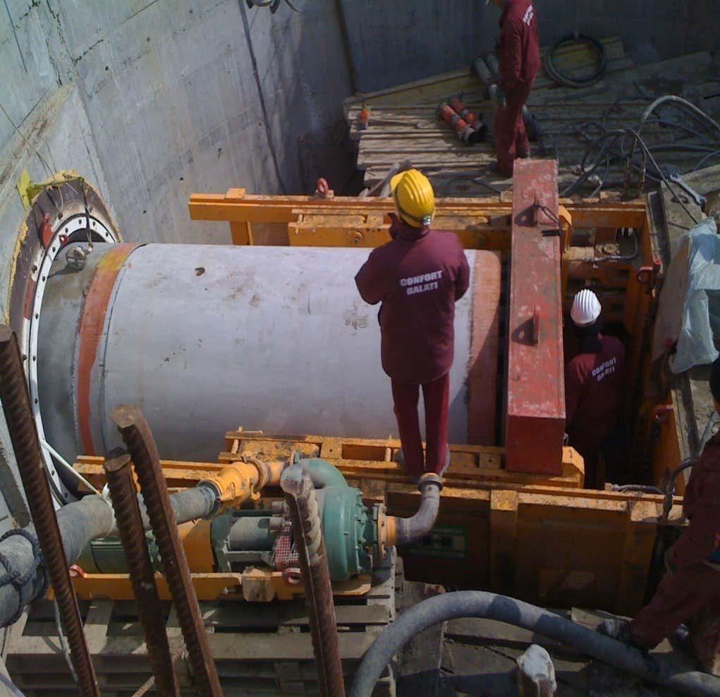 Tuburi pentru subtraversari din beton armat - Proiect subtraversare Galati SW UMWELTTECHNIK - Poza 1