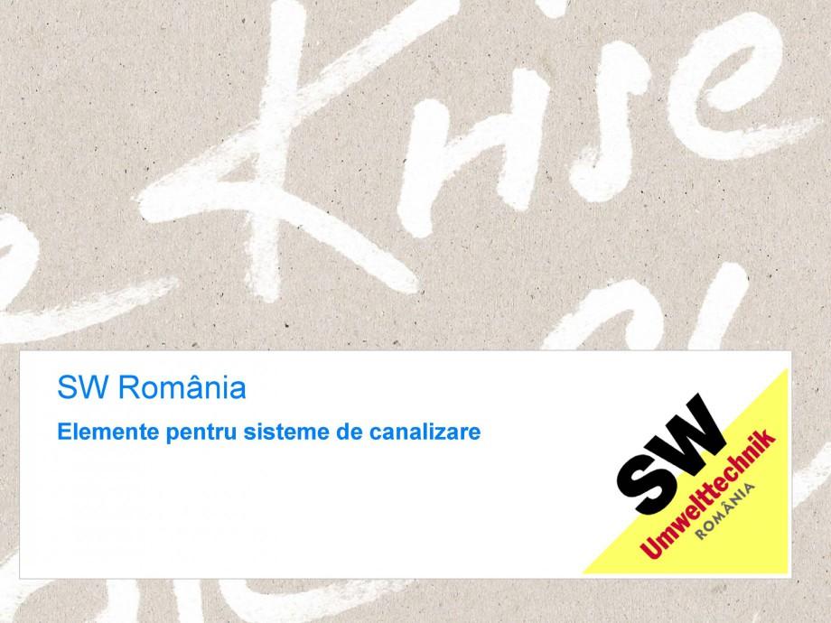 Pagina 1 - Elemente pentru sisteme de canalizare SW UMWELTTECHNIK Catalog, brosura Romana...