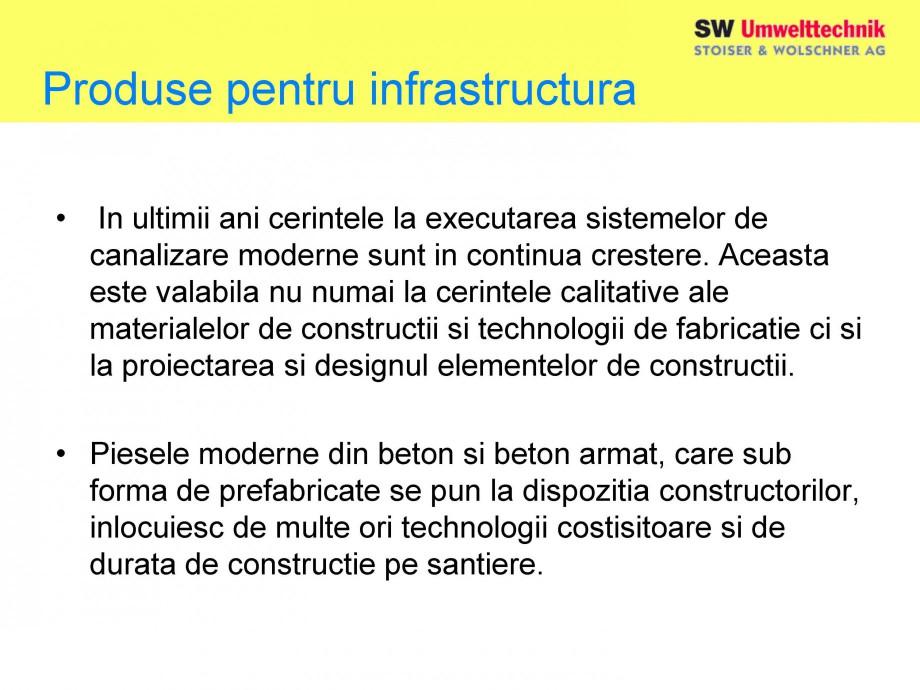 Pagina 4 - Elemente pentru sisteme de canalizare SW UMWELTTECHNIK Catalog, brosura Romana