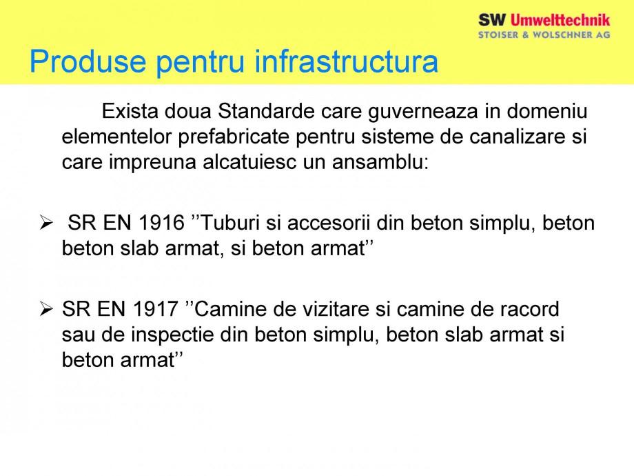 Pagina 5 - Elemente pentru sisteme de canalizare SW UMWELTTECHNIK Catalog, brosura Romana