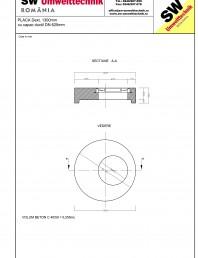 Placa Dext.1300 H250  cu capac ductil DN625