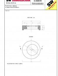 Placa Dext.1300 H250 cu capac ductil DN800