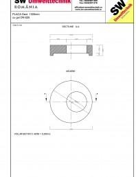 Placa Dext.1300 H250 cu gol DN625