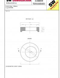 Placa Dext.1300 H250 cu golL DN800