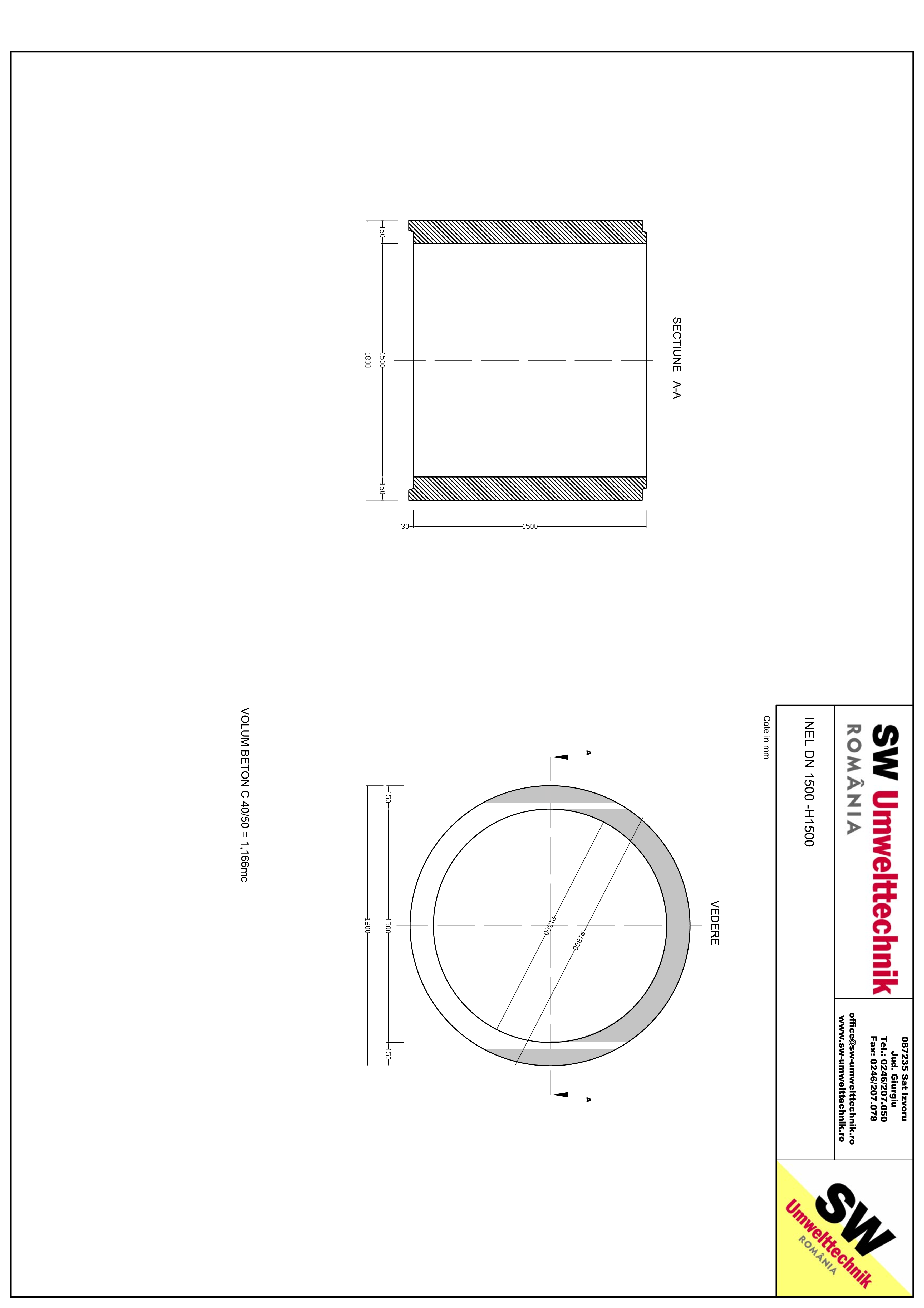 Pagina 1 - CAD-PDF Inel DN1500 INEL H1500 SW UMWELTTECHNIK Detaliu de produs