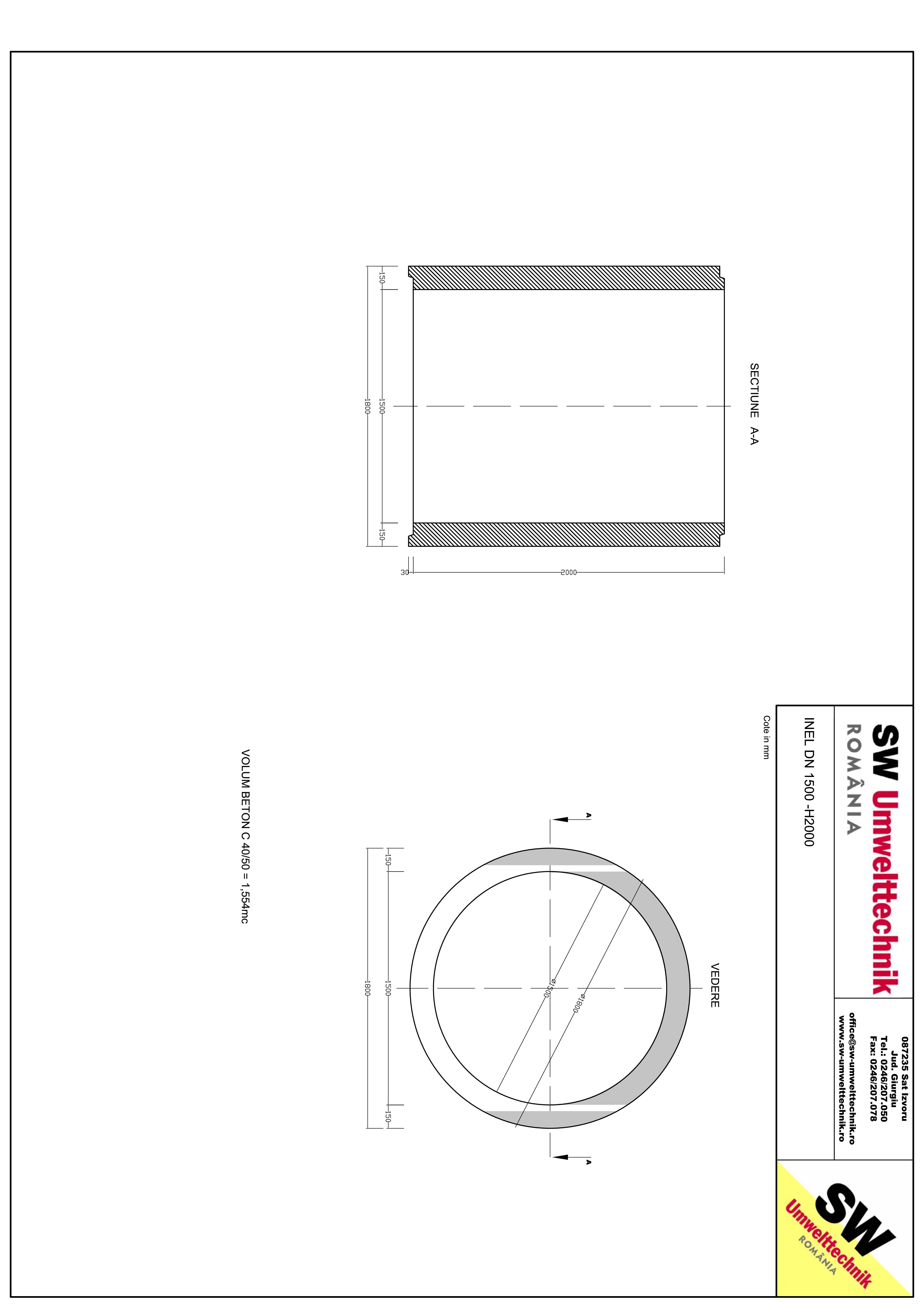 Pagina 1 - CAD-PDF Inel DN1500 INEL H2000 SW UMWELTTECHNIK Detaliu de produs