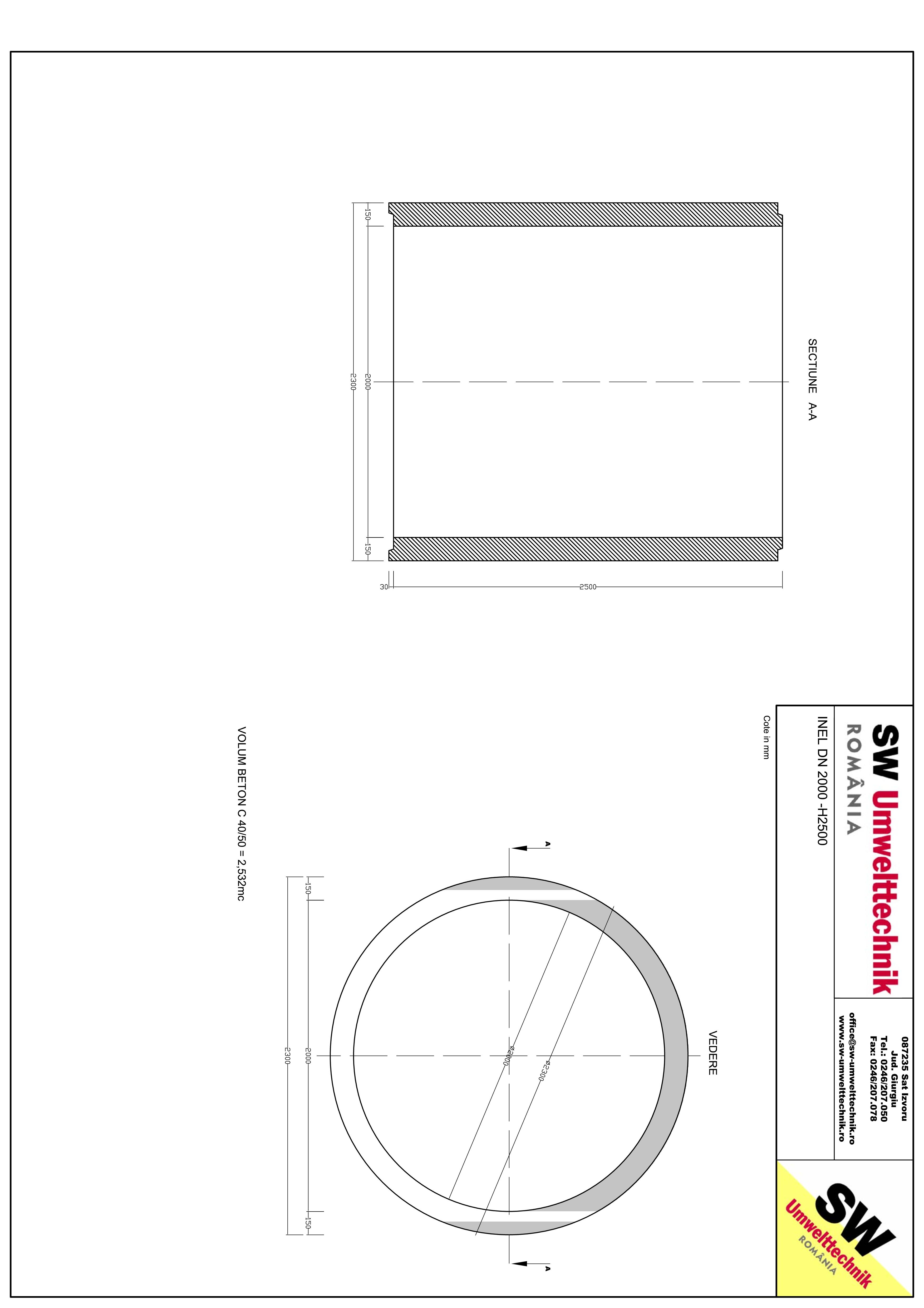 Pagina 1 - CAD-PDF Inel DN2000  - Inel H2500 SW UMWELTTECHNIK Detaliu de produs