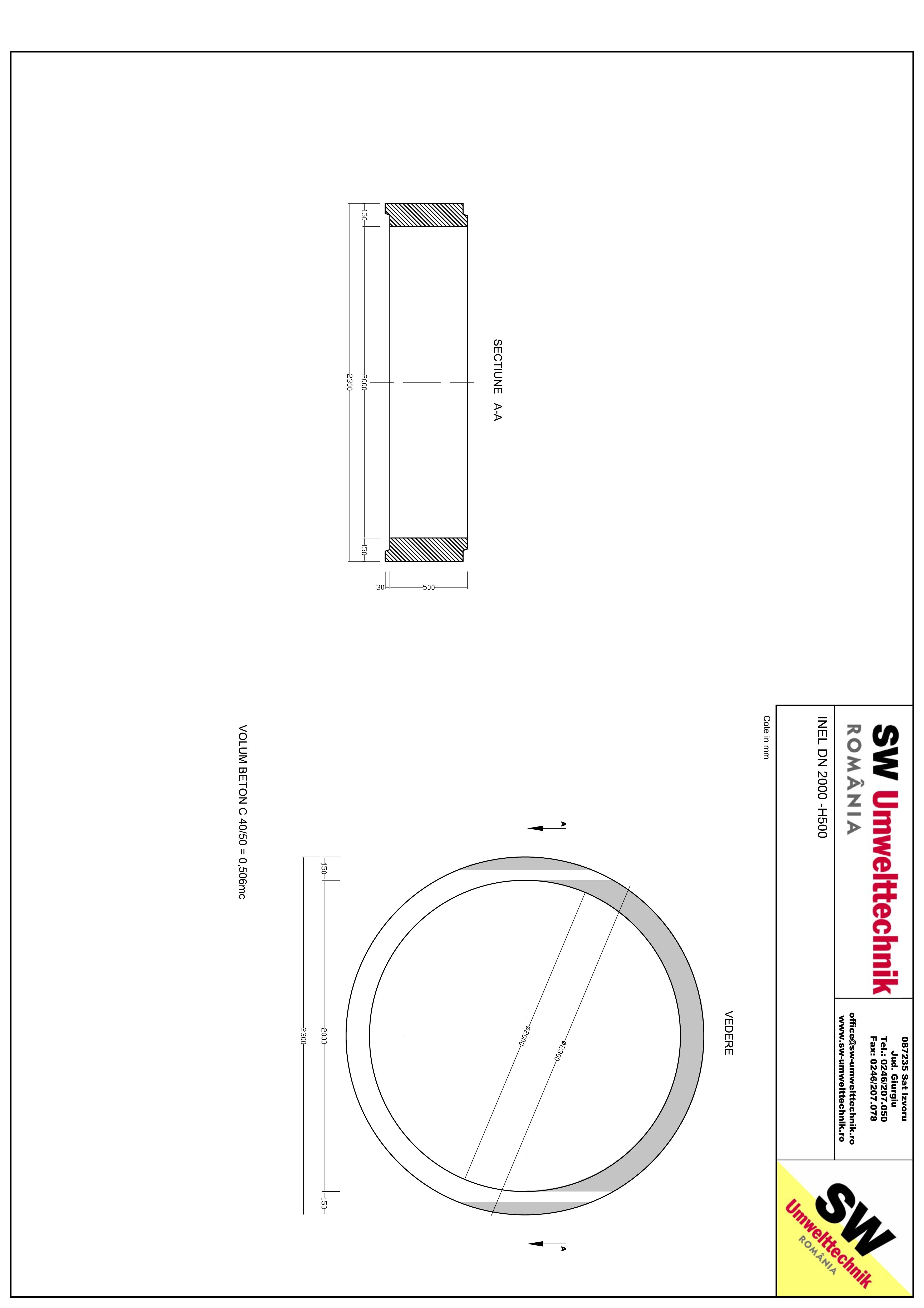 Pagina 1 - CAD-PDF Inel DN2000 - Inel H500 SW UMWELTTECHNIK Detaliu de produs