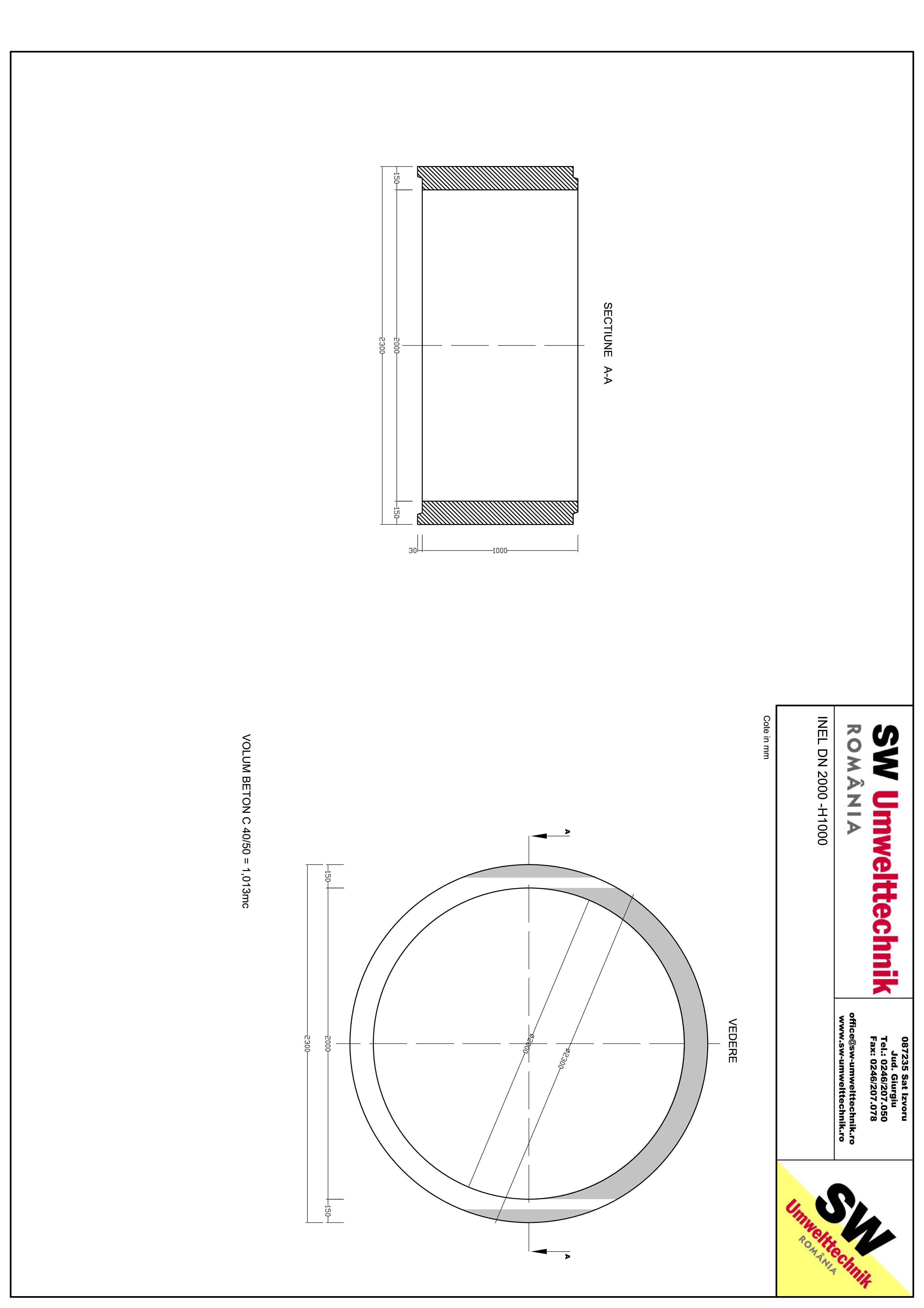 Pagina 1 - CAD-PDF Inel DN2000 - Inel H1000 SW UMWELTTECHNIK Detaliu de produs