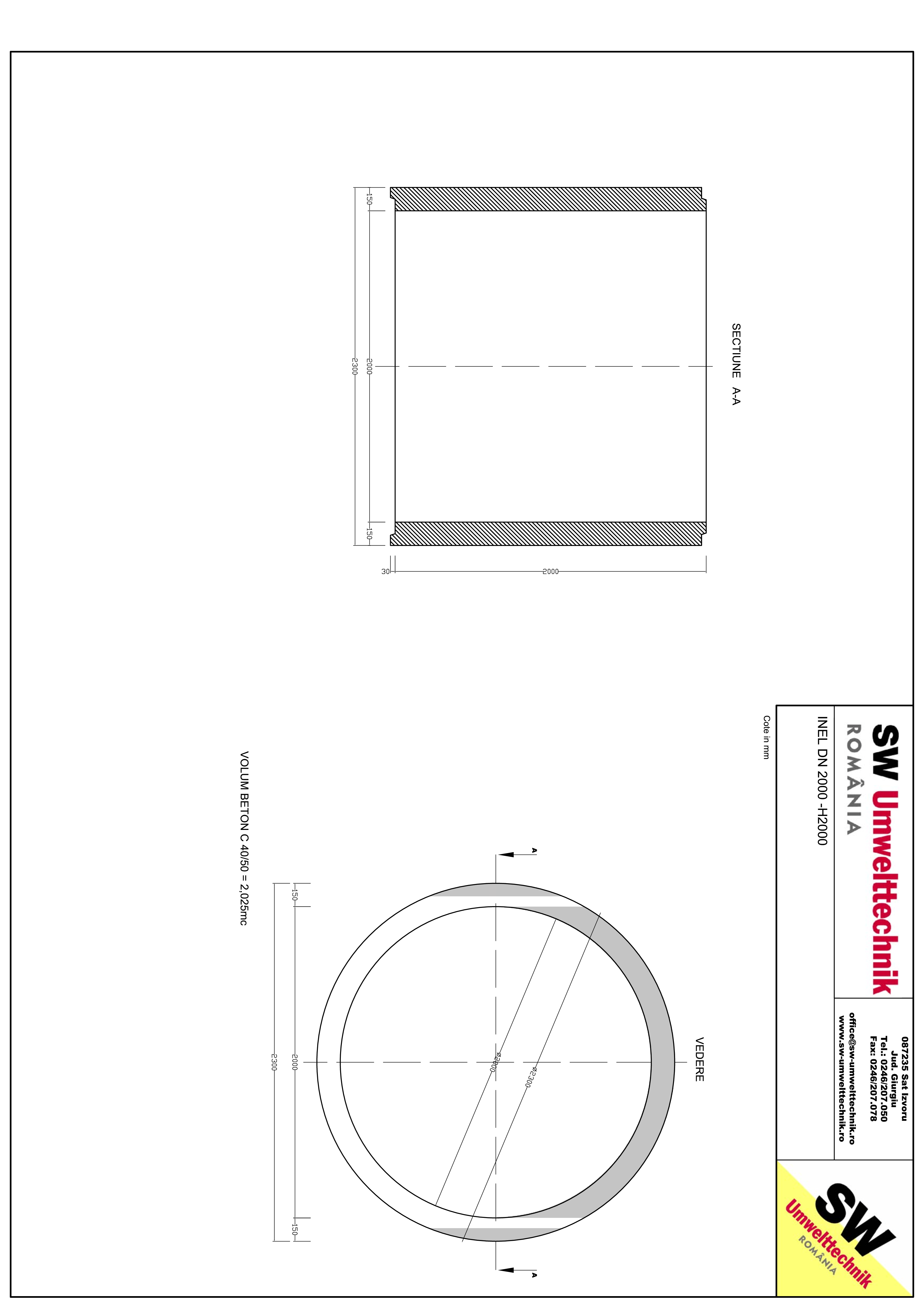 Pagina 1 - CAD-PDF Inel DN2000 - Inel H2000 SW UMWELTTECHNIK Detaliu de produs