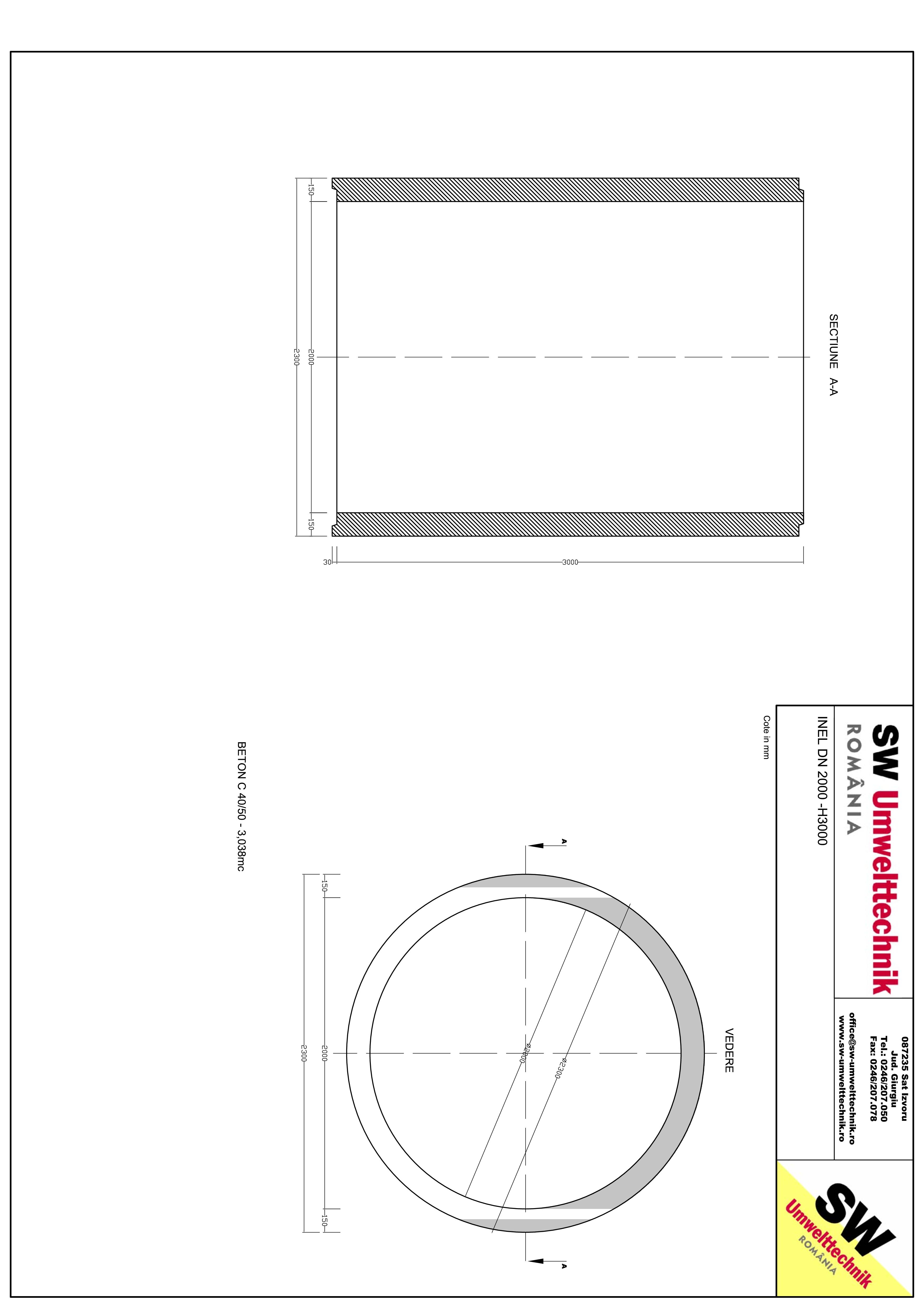 Pagina 1 - CAD-PDF Inel DN2000 - Inel H3000 SW UMWELTTECHNIK Detaliu de produs