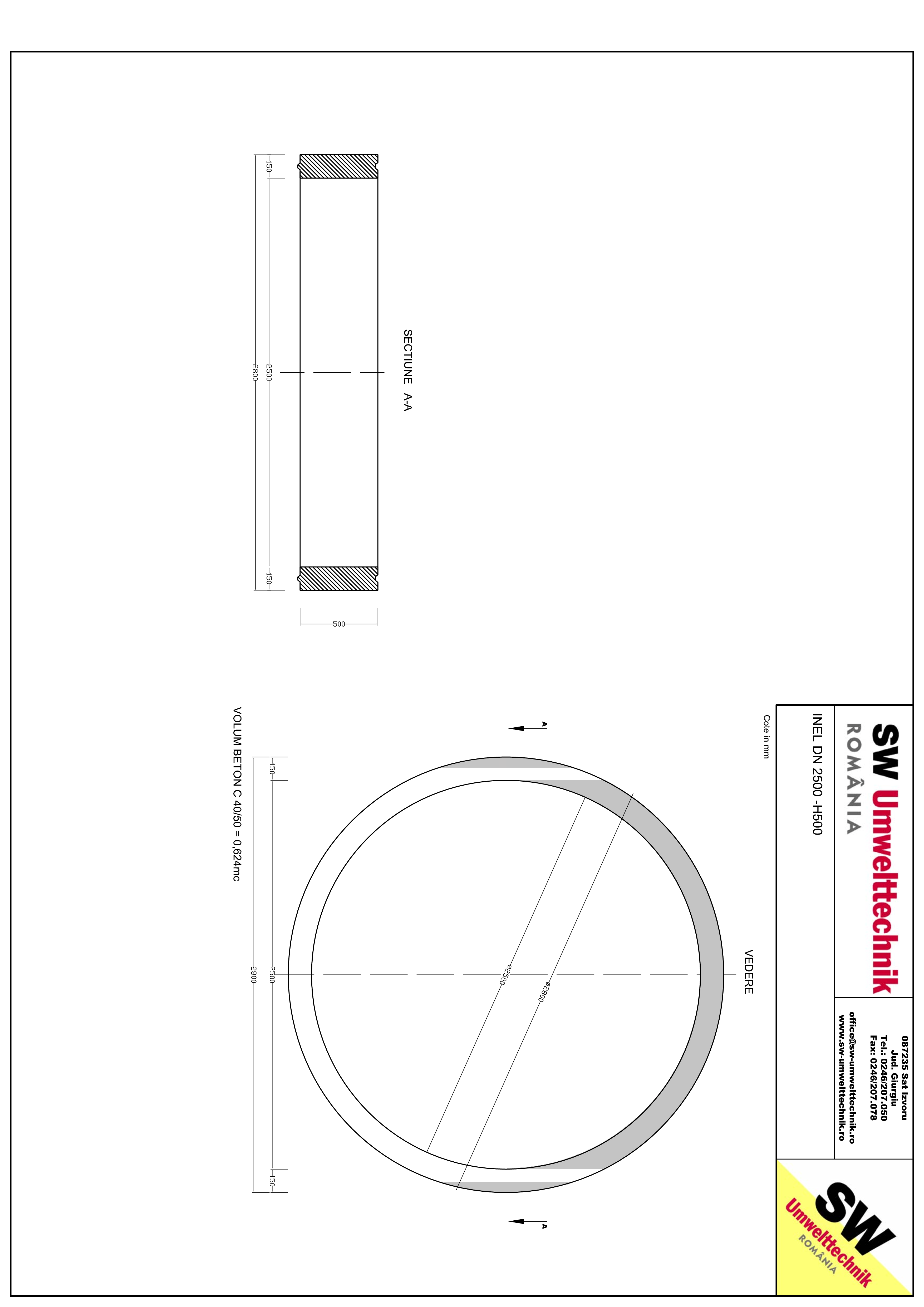 Pagina 1 - CAD-PDF Inel DN2500 - Inel H500 SW UMWELTTECHNIK Detaliu de produs