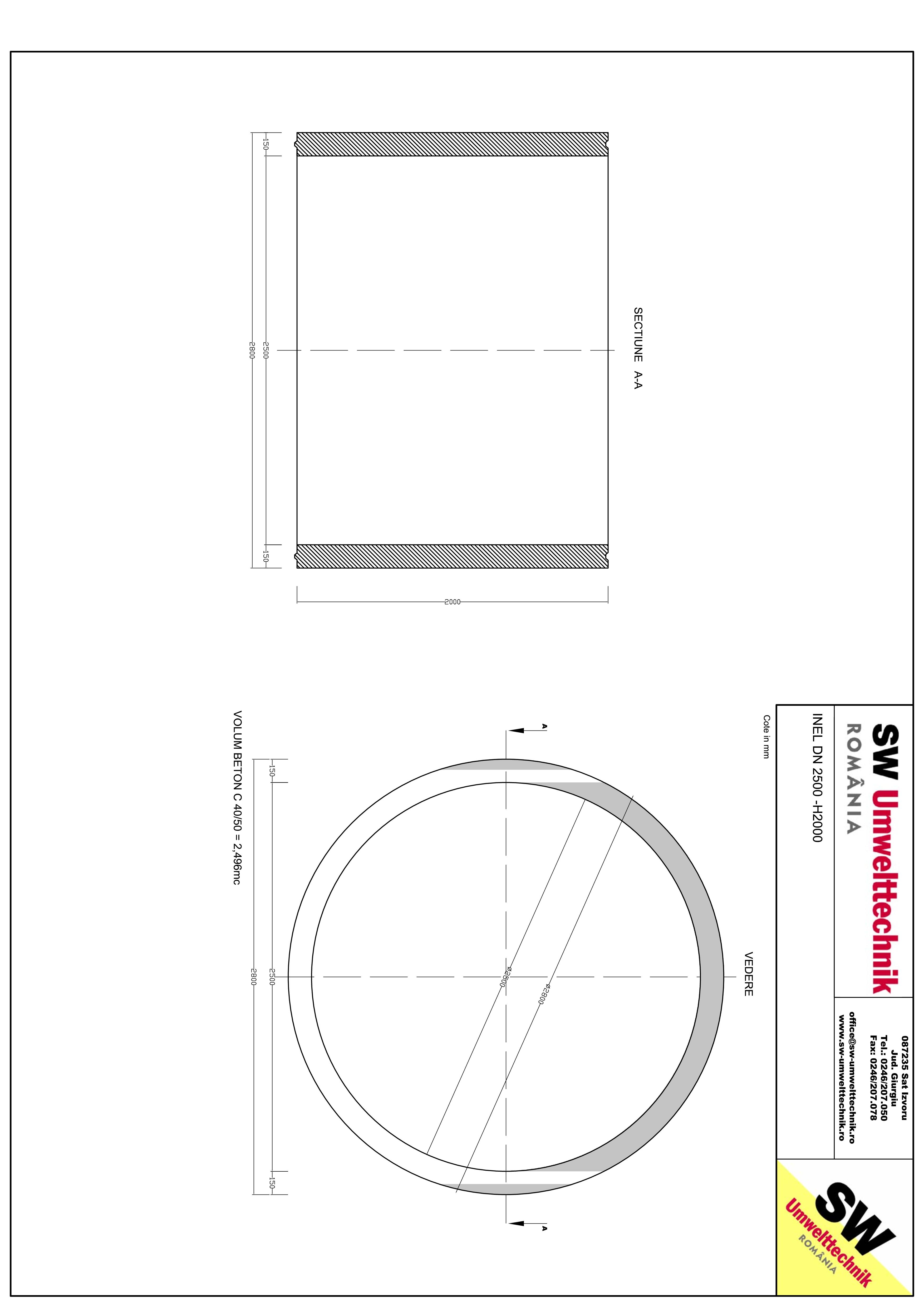 Pagina 1 - CAD-PDF Inel DN2500 - Inel H2000 SW UMWELTTECHNIK Detaliu de produs