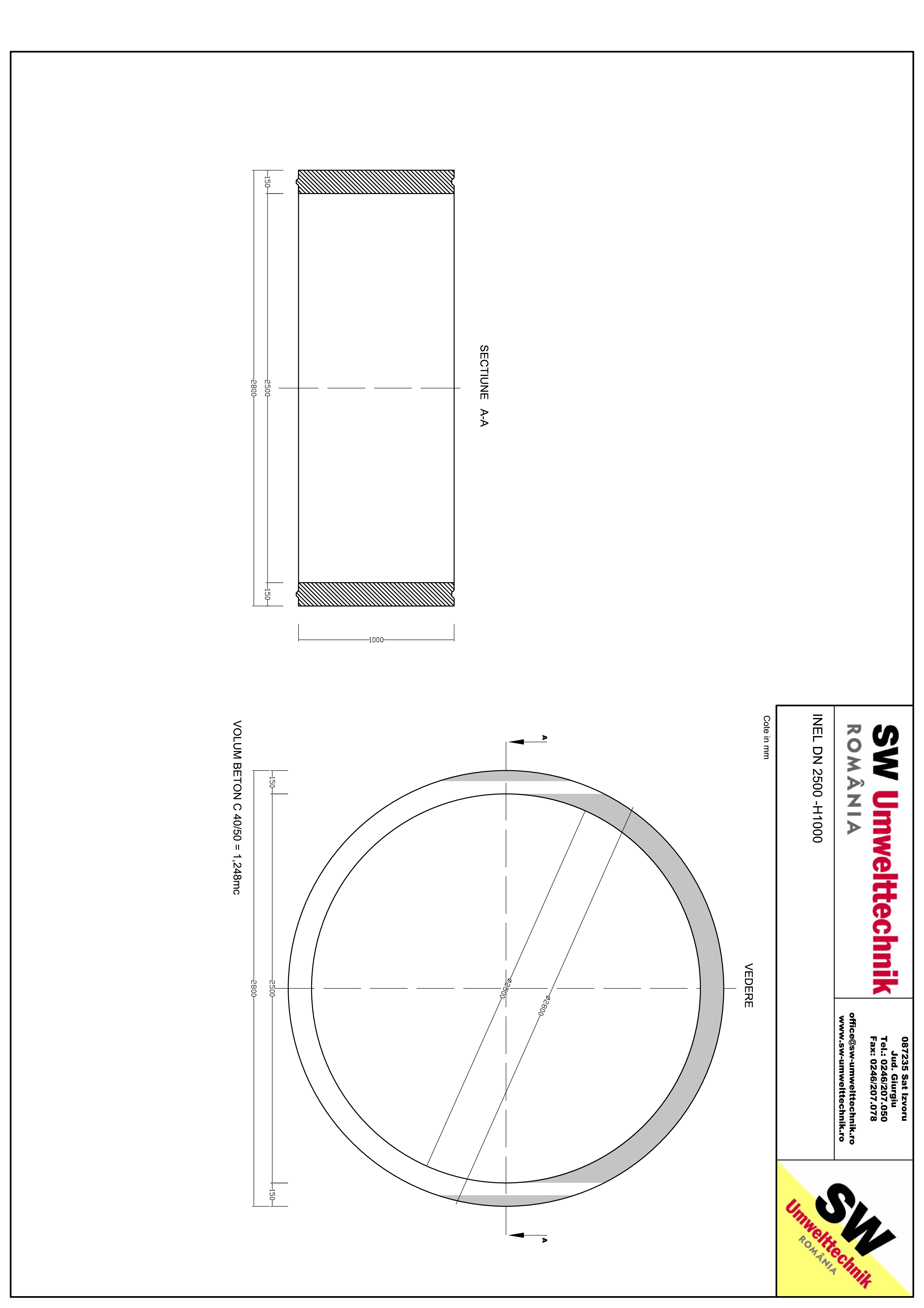 Pagina 1 - CAD-PDF Inel DN2500 - Inel H1000 SW UMWELTTECHNIK Detaliu de produs
