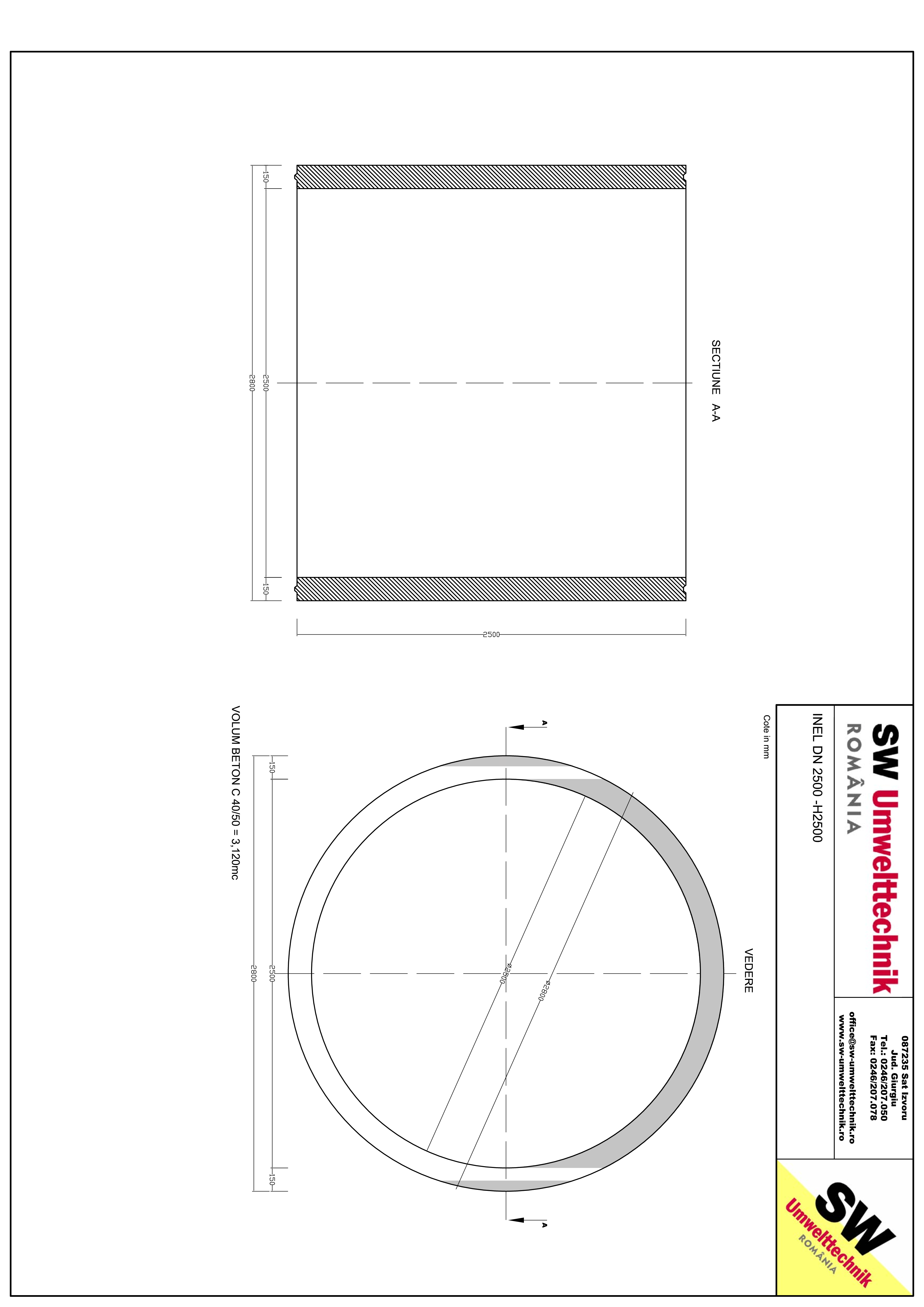 Pagina 1 - CAD-PDF Inel DN2500 - Inel H2500 SW UMWELTTECHNIK Detaliu de produs