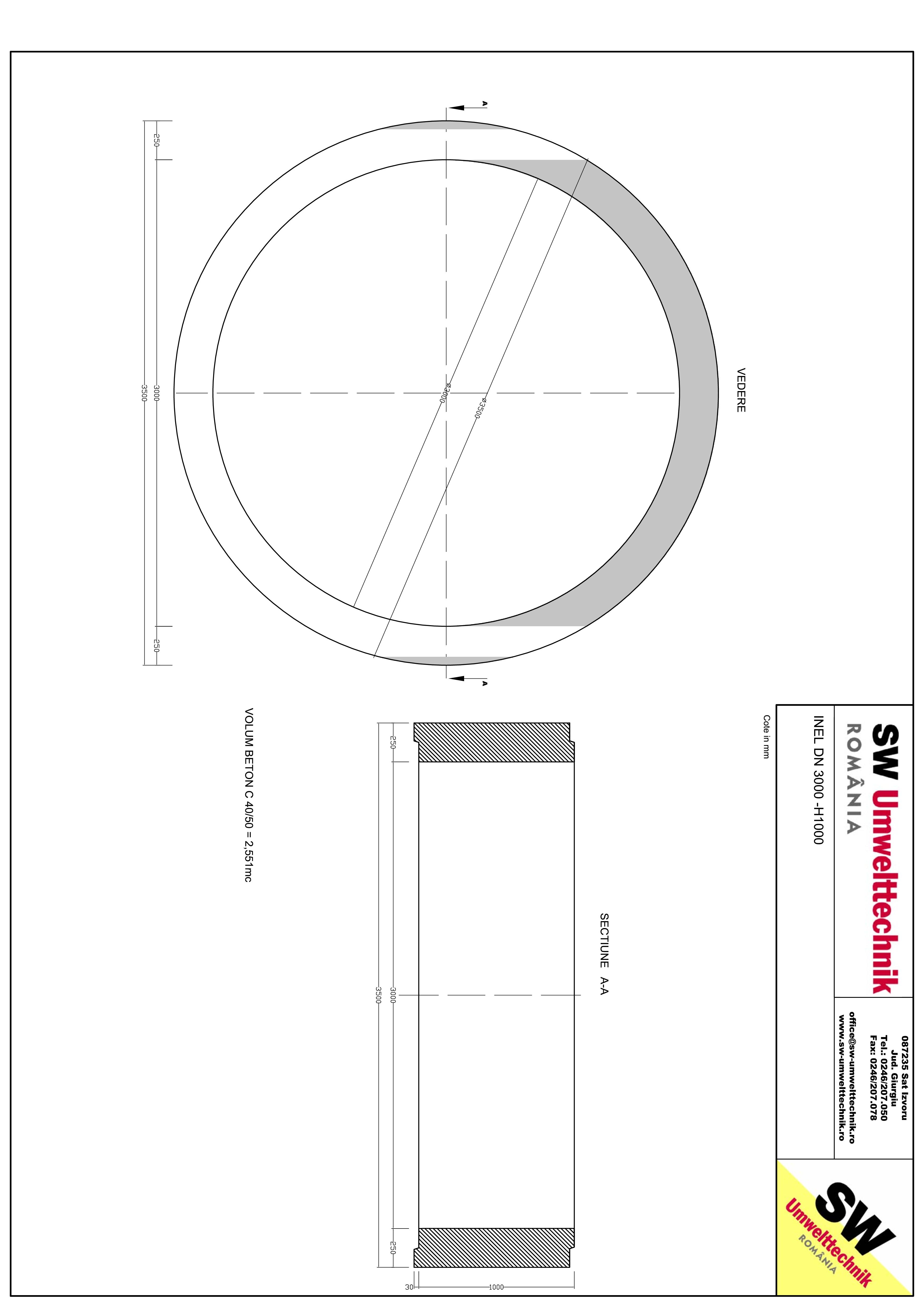 Pagina 1 - CAD-PDF Inel DN3000 - Inel  1000 SW UMWELTTECHNIK Detaliu de produs
