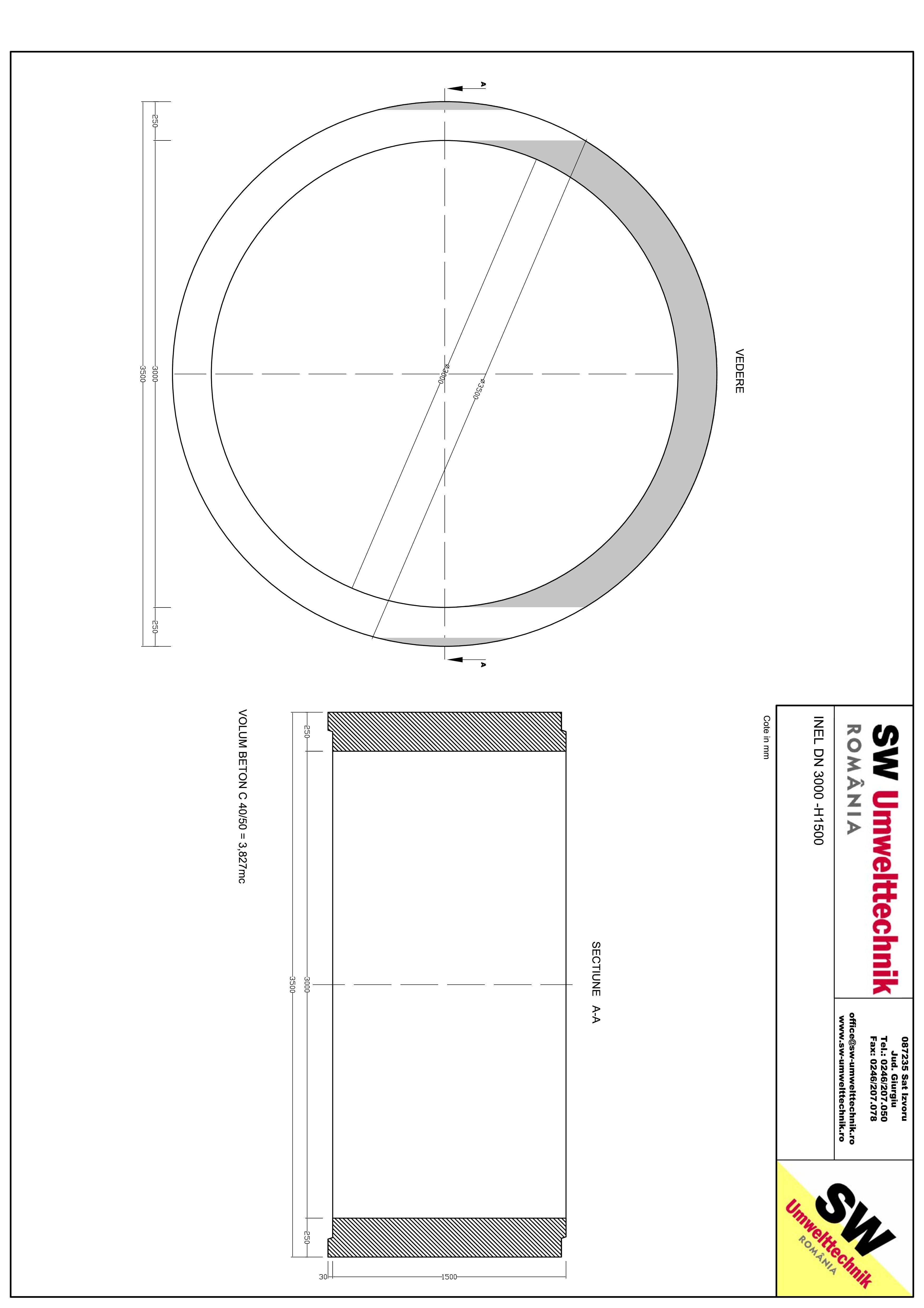 Pagina 1 - CAD-PDF Inel DN3000 - Inel  1500 SW UMWELTTECHNIK Detaliu de produs