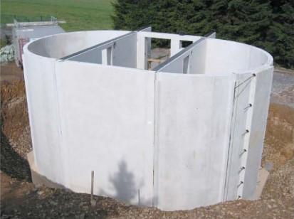 Bazine din beton armat / Bazin din beton oval