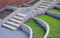 Pavele si borduri din beton pentru pavaje exterioare Pentru a inlesni pavarea personalizata a