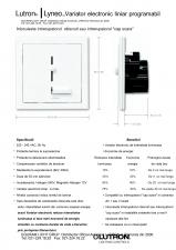 Variatoare electronice de intensitate luminoasa liniare, programabile - LYNEO PRESET LUTRON