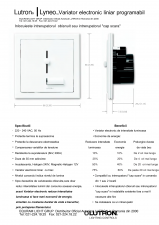 Variatoare electronice de intensitate luminoasa liniare, programabile - LYNEO PRESET