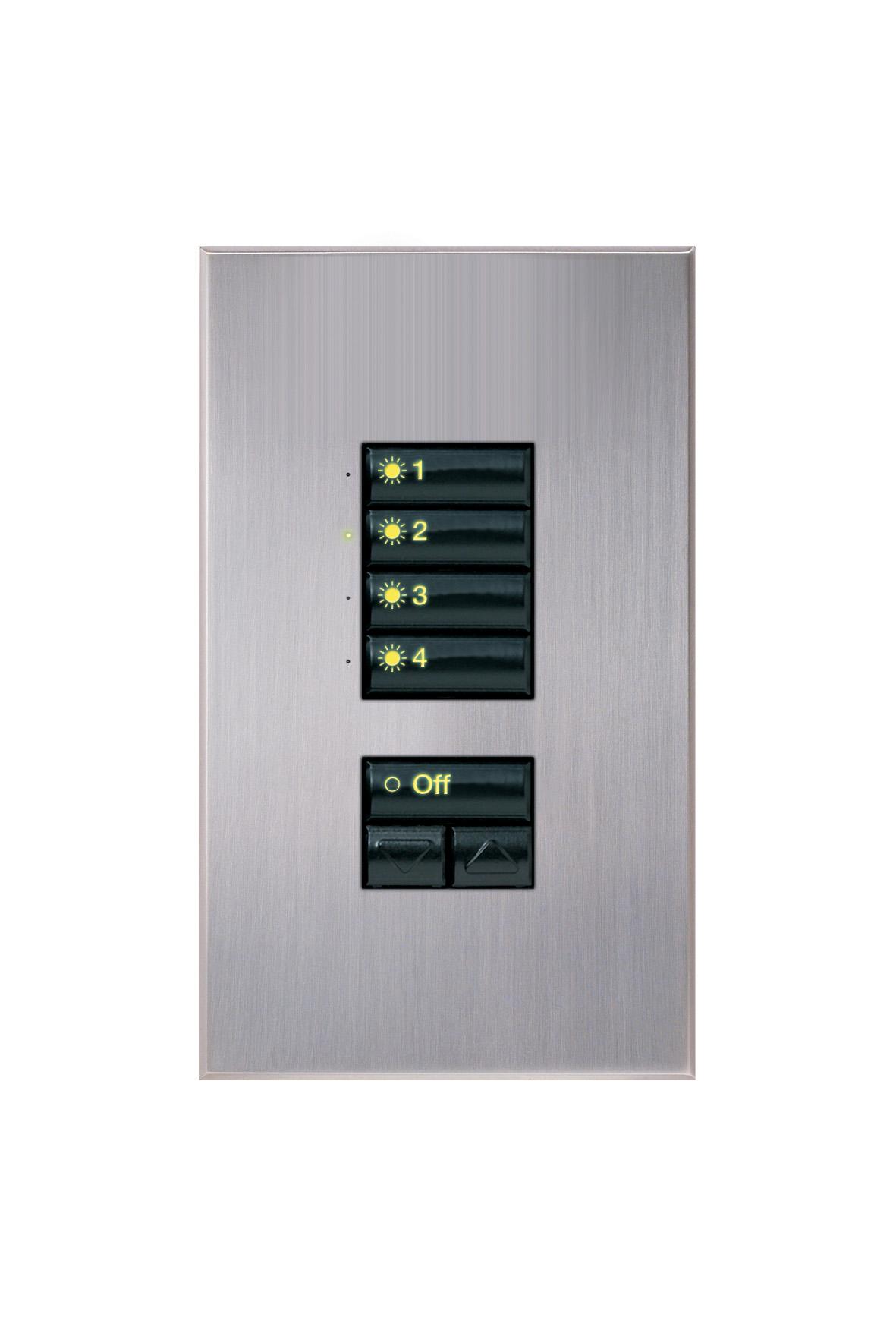 LUTRON, CRESTRON, AMX - Puncte de comanda (Keypad-uri) cu intrerupator ON/ OFF sau ecran LCD CRESTRON - Poza 4