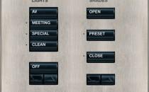 Sisteme de comutatie, control si comanda, variatoare electronice de intensitate luminoasa Sistemele de control, indiferent de complexitatea solicitarilor,  potfi programate pentru a obtine exact functionalitatea ceruta. Componentele sunt accesibile prin interfete de comanda estetice, arhitecturale si usor de folosit.