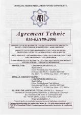 Agrement tehnic PROMAT