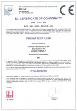 Certificat de conformitate PROMAT