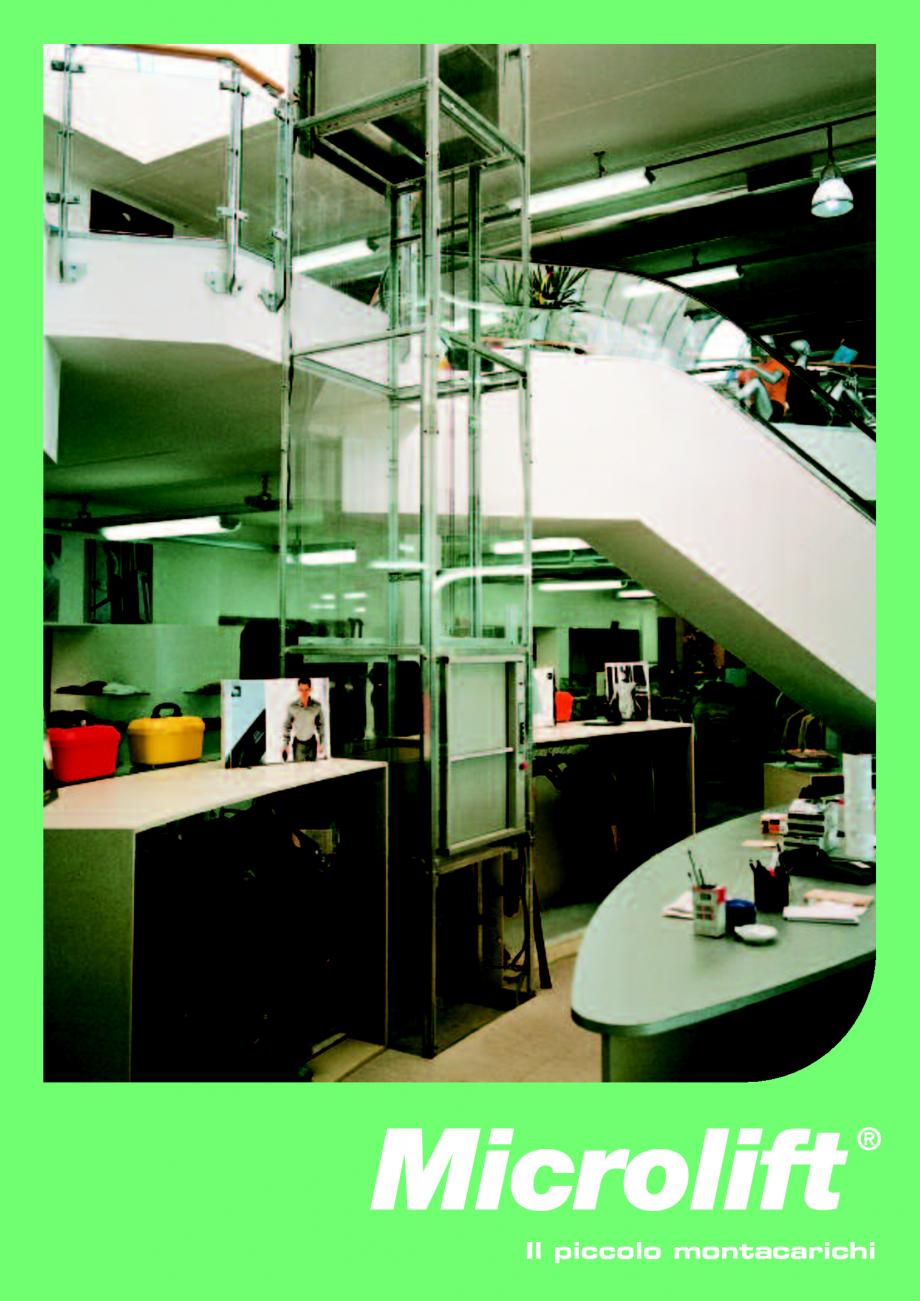 Catalog brosura ascensoare monte charge microlift daldoss for Come ridurre il rumore nella cabina dell auto