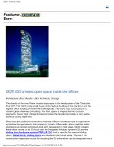 Accesorii pentru amortizoare hidraulice, Posttower Bonn - PERLAN 120 GEZE