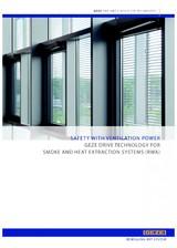 Sisteme de ventilare pentru evacuarea fumului si gazelor fierbinti GEZE