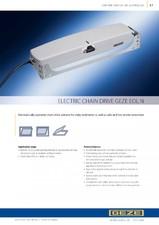 Sistem cu lant de actionare electrica pentru deschiderea ferestrelor GEZE