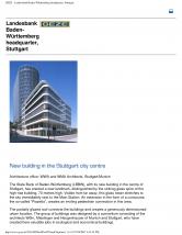 Echipamente de control pentru iesiri de urgenta, Landesbank Baden-Wurttemberg Stuttgart GEZE