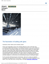 Feronerie integrata pentru compartimentari mobile, Airport Cologne-Bonn GEZE