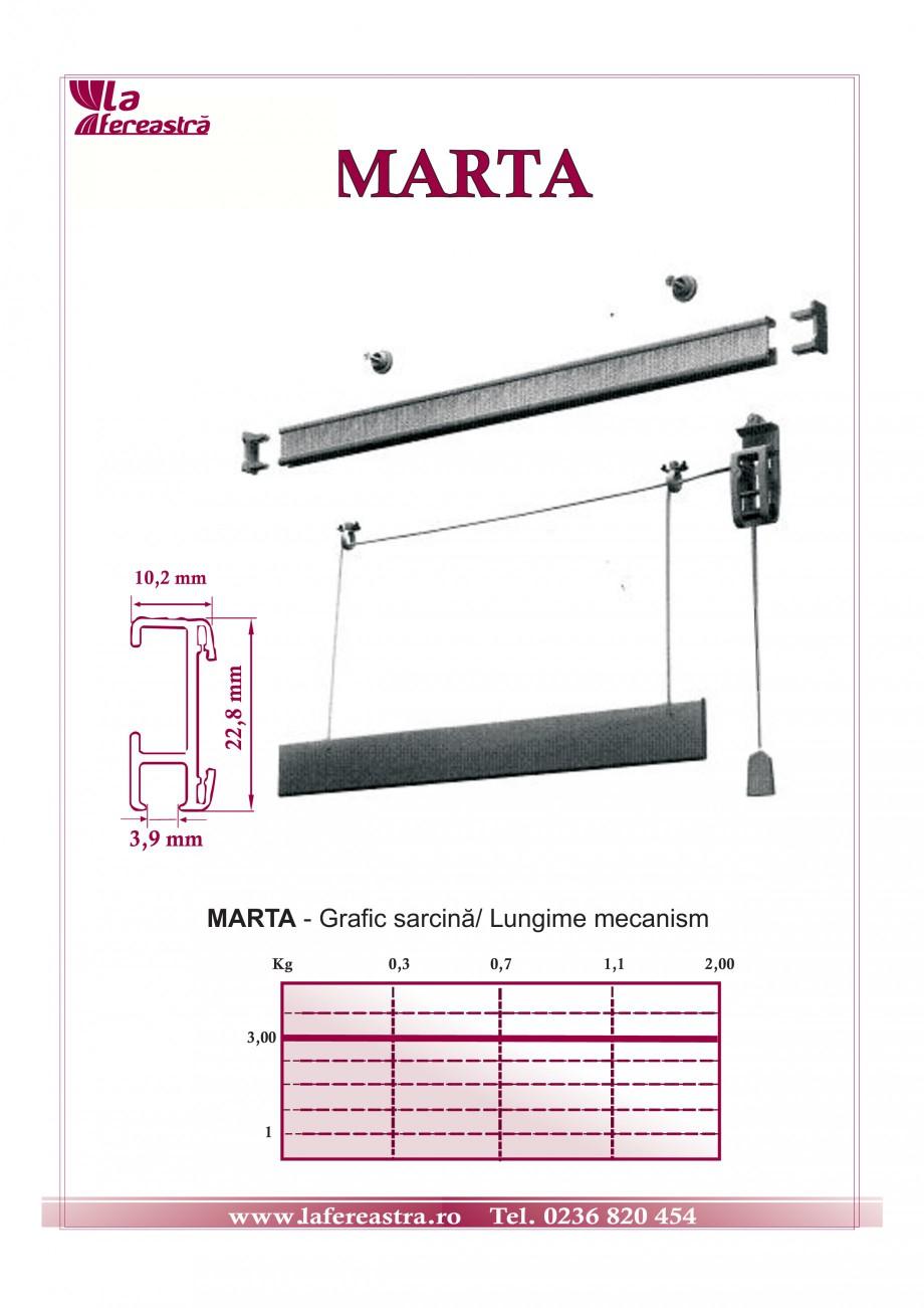 Pagina 1 - Mecanism pentru storuri romane LA FEREASTRA MARTA Fisa tehnica Romana MARTA  22,8 mm  10,...