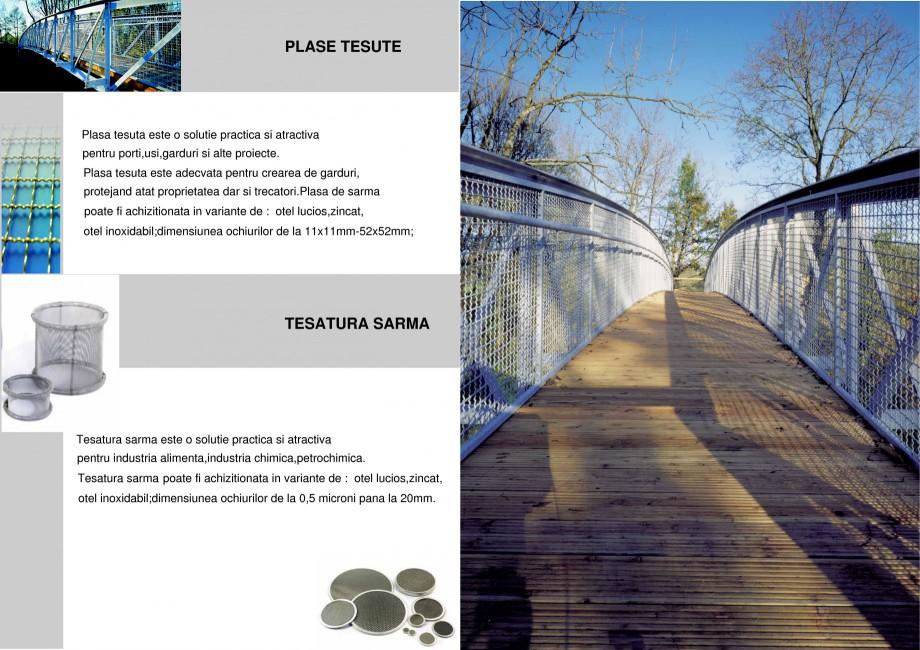 Pagina 1 - Plase tesute STANTOBANAT Catalog, brosura Romana PLASE TESUTE  Plasa tesuta este o...
