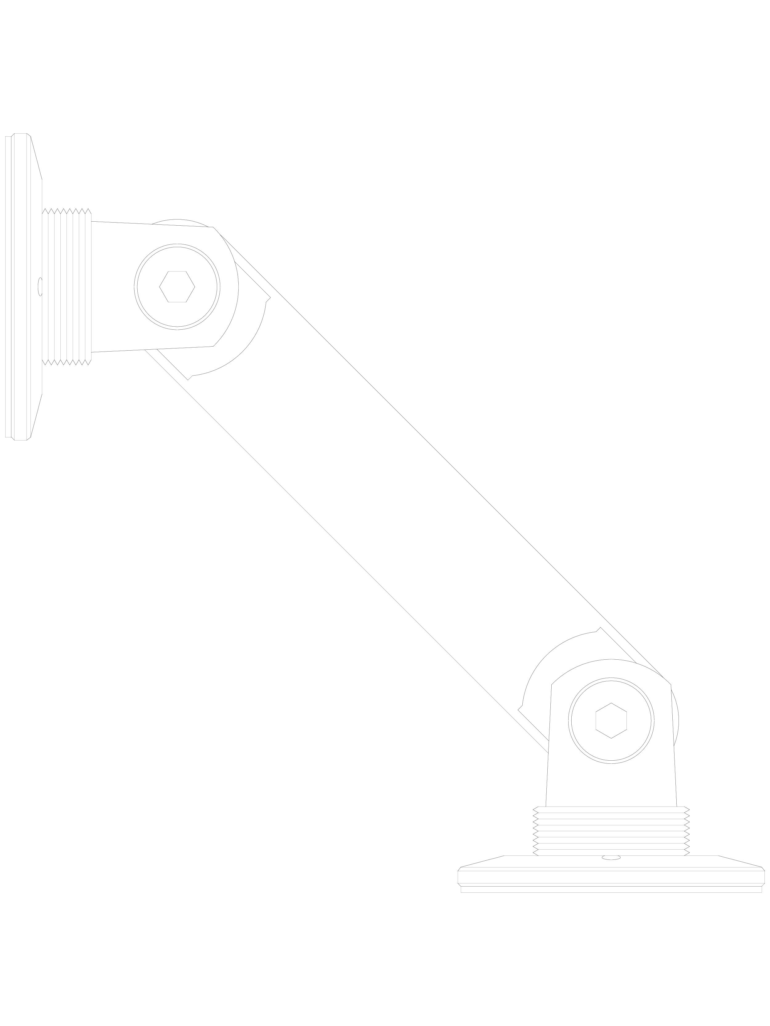 Pagina 1 - CAD-DWG Conector pentru sticla - 02-21-23 D SADEV DECOR Detaliu de produs Conectori